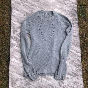 Lululemon Grey Knit Sweater